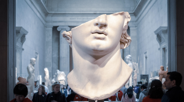 Partial Bust In Museum